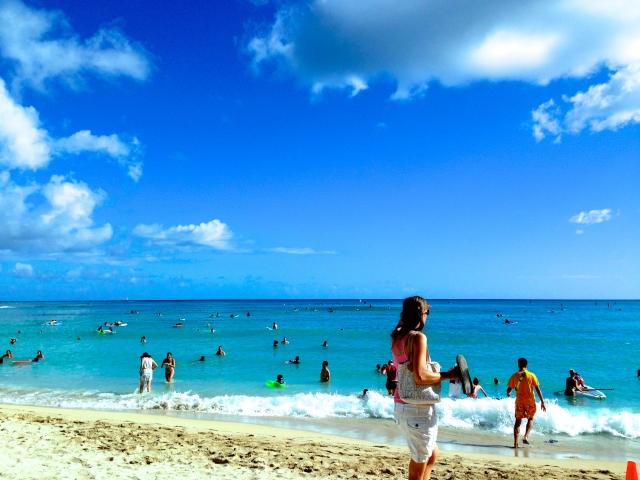 ハワイ、ワイキキビーチ