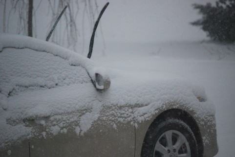 冬の暖機運転