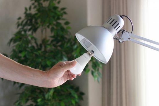 白熱電球からLED電球へ交換