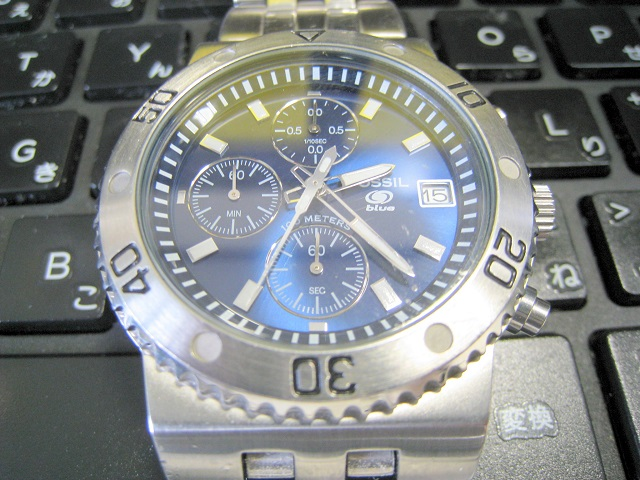 FOSSIL-フォッシル、メンズクオーツ式腕時計