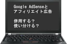 Google AdSenseとアフィリエイト広告を併用する?使い分ける?
