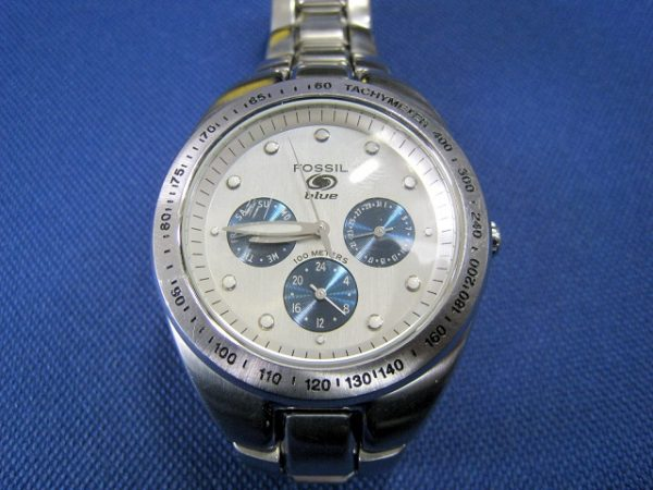 Fossil blue watch/フォッシル時計 - Water Resistant 100m